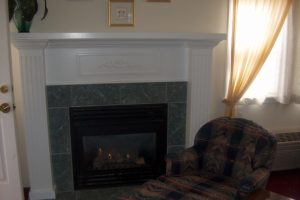 luxury suite, fireplace, carriage house