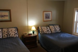 two double beds, calm, clean, comfortable