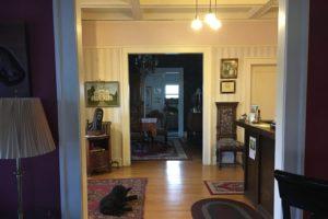 antique furnishings, motel, foyer | The Hartland Inn | New Meadows, ID