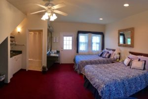 two queen beds, new meadows, luxury suite